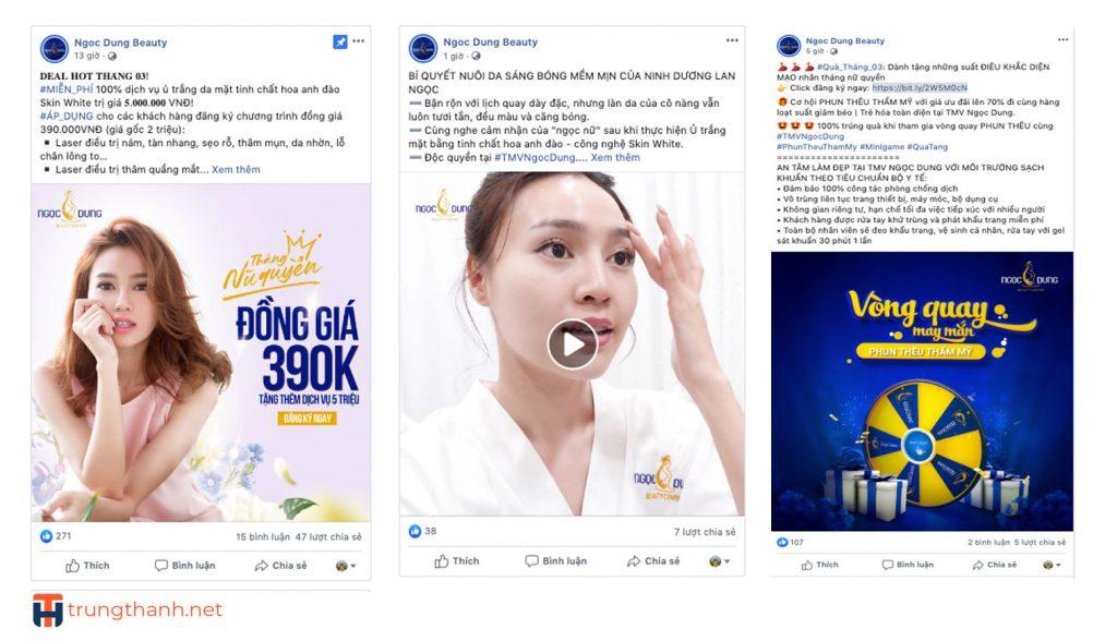 Đăng bài thường xuyên trên Fanpage với nội dung phong phú giúp khách hàng hiểu về spa, thẩm mỹ viện của bạn