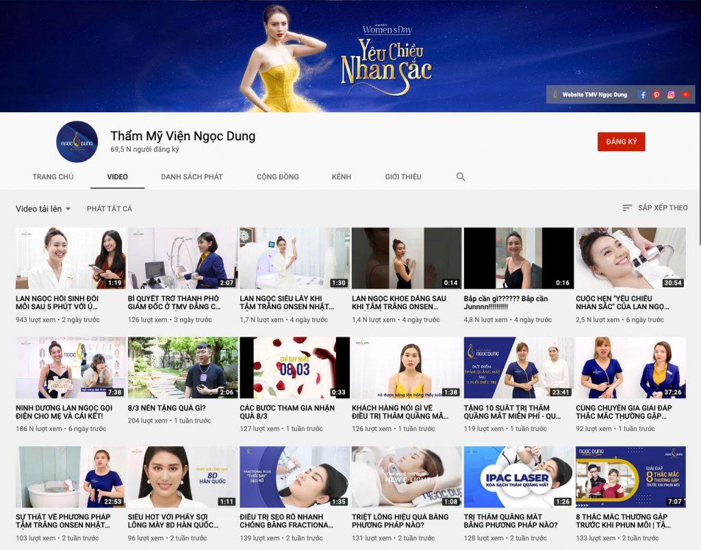 Phát triển kênh Youtube bằng các video các quy trình, ý kiến khách hàng là 1 kênh các chủ spa nên đầu tư