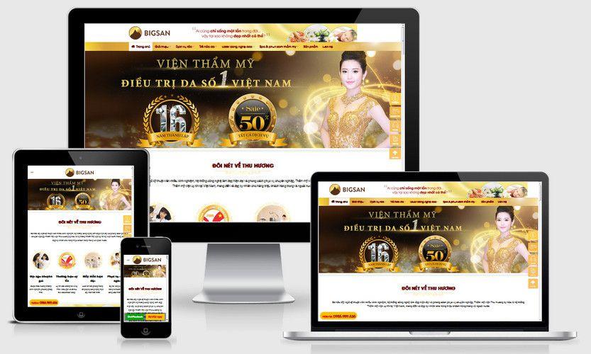 Website đẹp đẩy đủ thông tin giúp Spa dẫ dàng tiếp cận khách hàng hơn