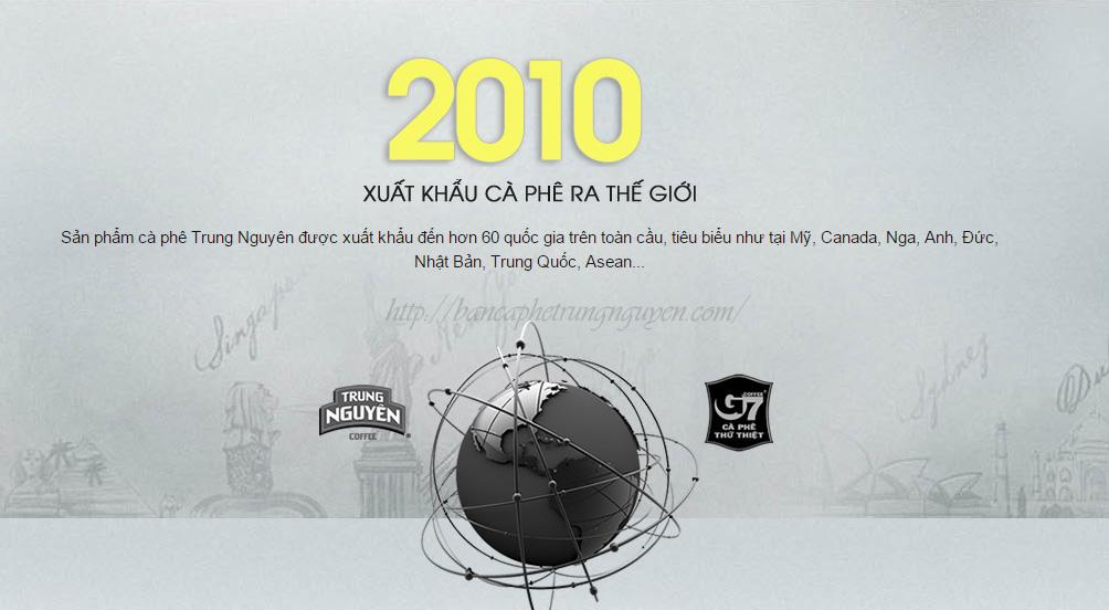 Năm 2010: Xuất khẩu cà phê ra thế giới