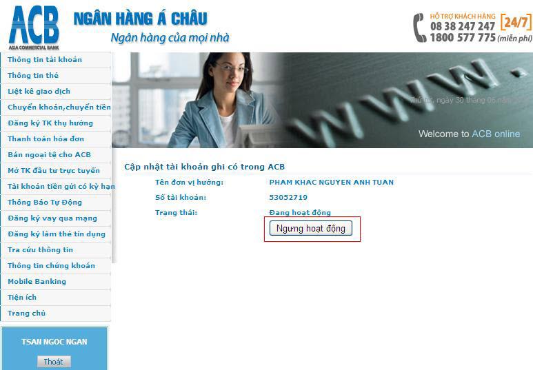 Hướng dẫn sử dụng Internet Banking của ngân hàng Á Châu