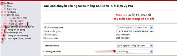 Hướng dẫn sử dụng Internet Banking của ngân hàng Đông Nam Á