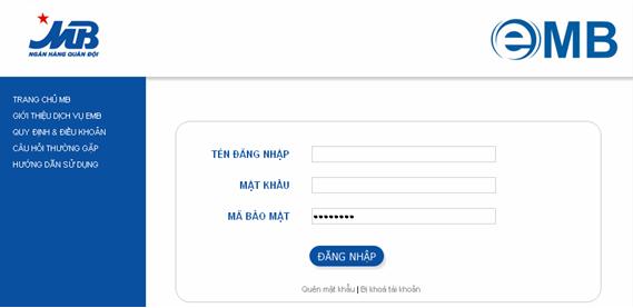Hướng dẫn sử dụng Internet Banking của ngân hàng Quân Đội