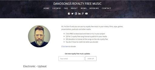 Kho nhạc nền miễn phí chất lượng cao Danosongs Royalty