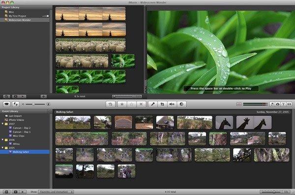 Phần mềm chỉnh sửa video iMovie 11