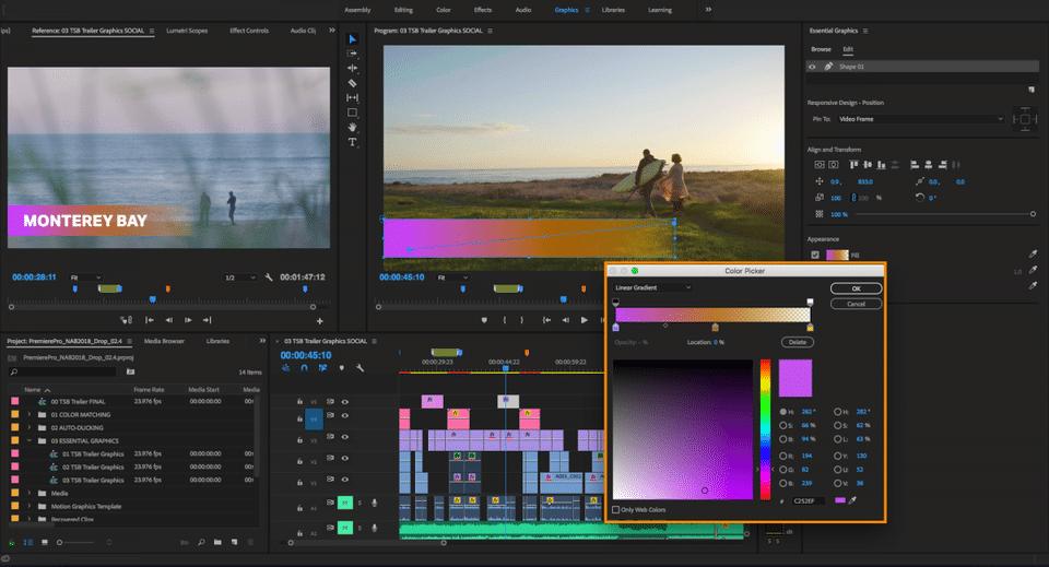 Phần mềm chỉnh sửa video Adobe Premiere Pro