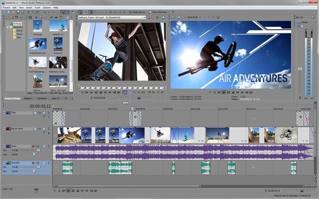 Phần mềm chỉnh sửa video Sony Vegas Movie Studio