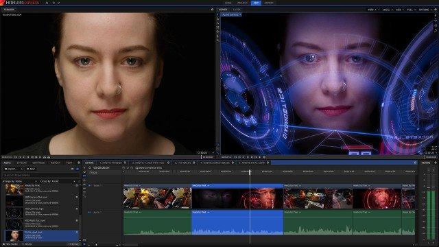 Phần mềm chỉnh video HitFilm Express