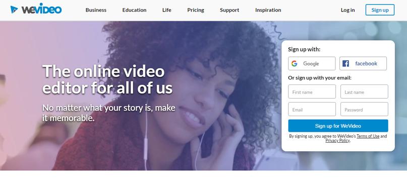 Phần mềm chỉnh sửa video wevideo