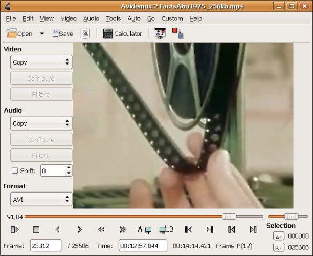 Phần mềm chỉnh sửa video miễn phí Avidemux
