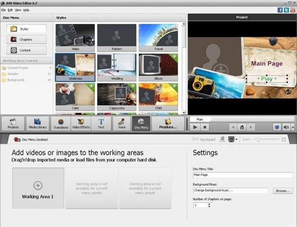 Phần mềm chỉnh sửa video AVS Video Editor